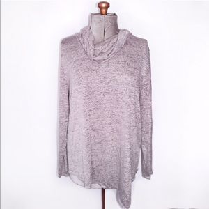 🎀 NWT Maurices Grey Heathered Cowl Neck Sweater